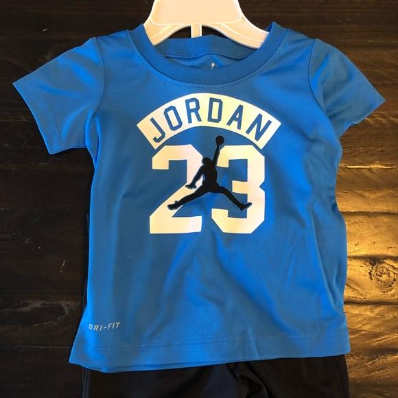 NWT Kids Nike Jordan Dri Fit Shirt and Short 84b1516e9